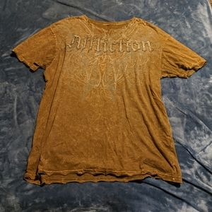 2xl xxl affliction tattoo tie dyed cross wings